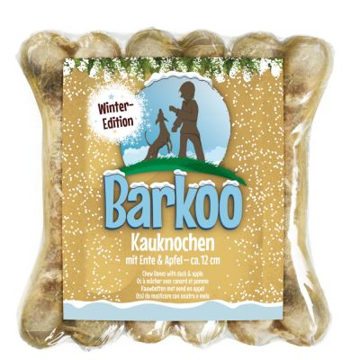 Barkoo huesos prensados de piel de vacuno - Edición de invierno - 3 x 12 cm