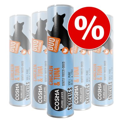 Cosma snackies DUO -säästöpakkaus - 5 x kananrinta & kananmaksa (140 g)