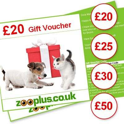 INOpets.com Anything for Pets Parents & Their Pets zooplus Gift Voucher - Value: £50