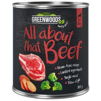 Levně Výhodné balení Greenwoods Adult 24 x 800 g krůtí s pastinákem a cuketou