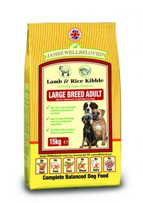 james-wellbeloved-adult-large-breed-lam-ris-okonomipakke-2-x-15-kg