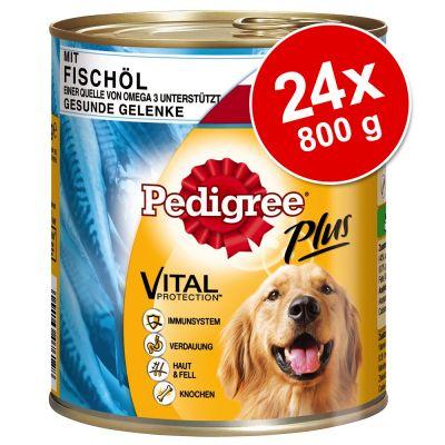 Pedigree Adult Plus -säästöpakkaus 24 x 800 g – nauta & ydinluu