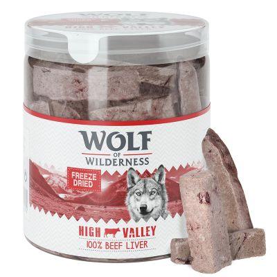 """Wolf of Wilderness """"High Valley"""" - Gefriergetrocknete Premium-Snacks - Rinderleber"""