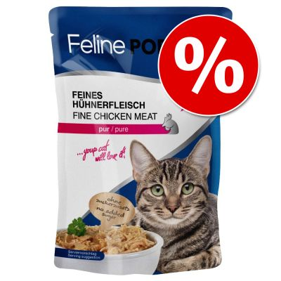 24 x 100 g Feline Porta 21 Pouches erikoishintaan! – tonnikala & aloe (viljaton)