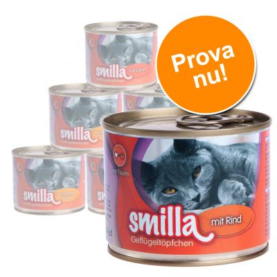 Blandat provpack: Smilla fågelragu – 6 x 200 g fågelragu med 4 blandade smaker