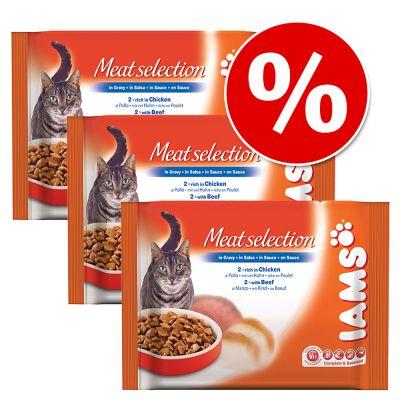 Ekonomipack: Iams portionspåse 12 x 100 g – Kitten Kyckling i sås