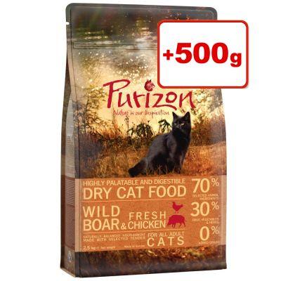Purizon kissanruoka 2,5 kg: 2 kg + 500 g kaupan päälle! Kitten Chicken & Fish