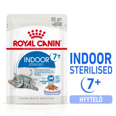 Royal Canin Indoor Sterilised 7+ in Jelly - 12 x 85 g