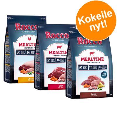 Rocco Mealtime -kokeilupakkaus, monta makua 3 x 1 kg