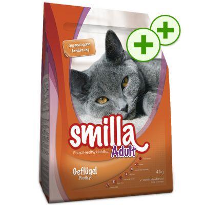 2x zooPlusPisteitä: Smilla kissanruoka 10 kg - Adult, XXL-siipikarja