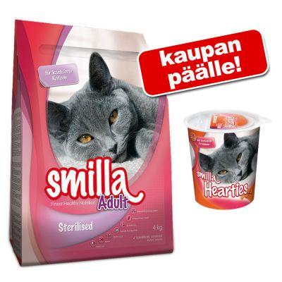 Smilla kissanruoka 4 kg + Smilla Hearties 125 g kaupan päälle! - Sterilised
