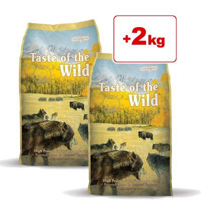 Taste of the Wild -koiranruoka 4 kg: 2 + 2 kg kaupan päälle! - Pacific Stream Canine