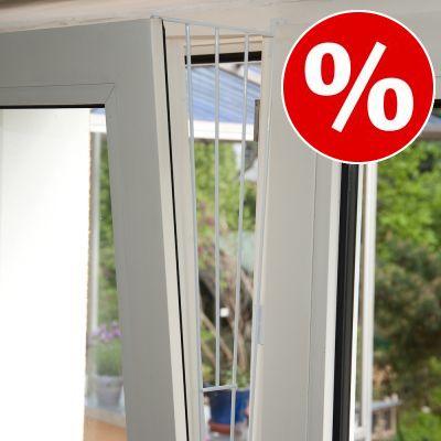 10 % rabatt! Trixie skyddsnät i vitt för pivotfönster Variant 2: fixeras på fönstrets sidor (2 delar)