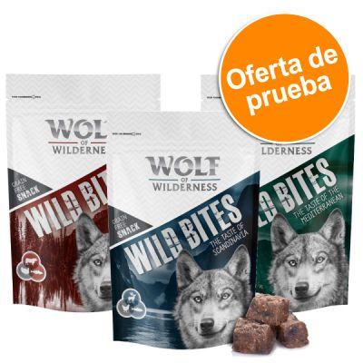 Wolf of Wilderness Wild Bites - Pack de prueba  - Pack mixto 4 x 180 g: pollo, pato, cordero y vacuno