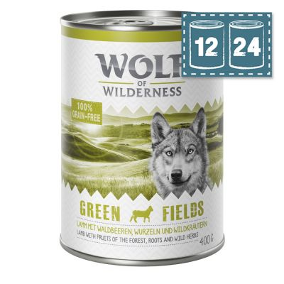 "Sparpaket Wolf of Wilderness Adult ""Green Fields"" - Lamm"