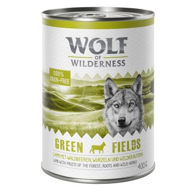 "Wolf of Wilderness Adult ""Green Fields"" - Lamm"