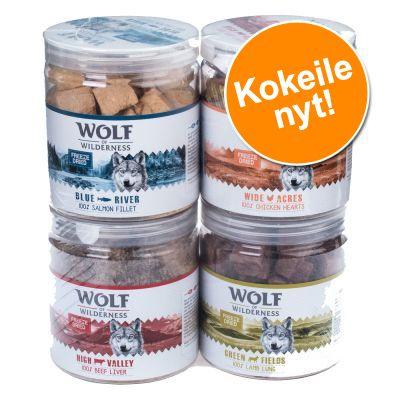 Wolf of Wilderness -sekoitus: kylmäkuivatut herkut - mix, 4 makua (280 g)