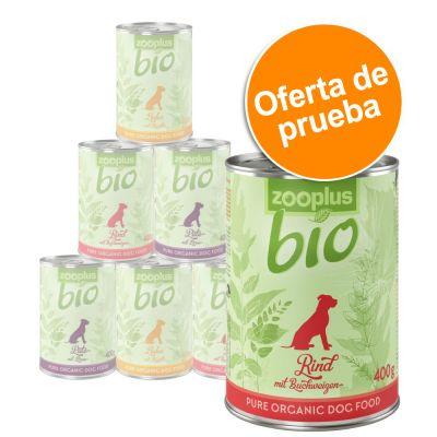zooplus Bio para perros - Pack de prueba mixto - 6 x 400 g: pollo, vacuno y pavo