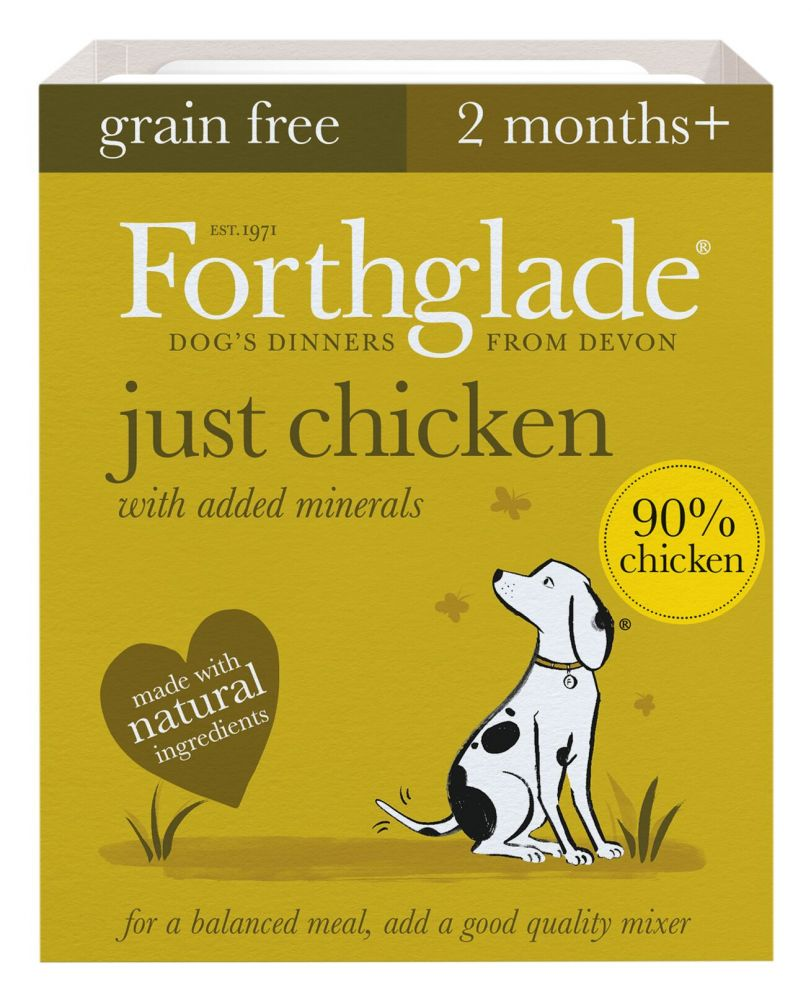 Forthglade Just Grain-Free Natural Wet Dog Food - Just Chicken - 18 x 395g