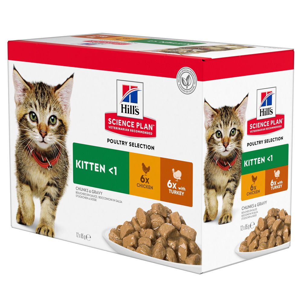 Hill's Science Plan Kitten 24 x 85 g- Poultry Selection