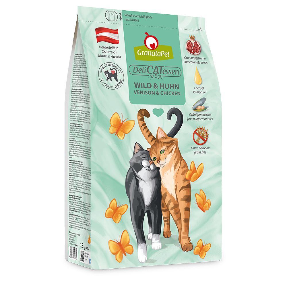 GranataPet DeliCatessen Adult Vilt & kyckling - Ekonomipack: 2 x 1,8 kg