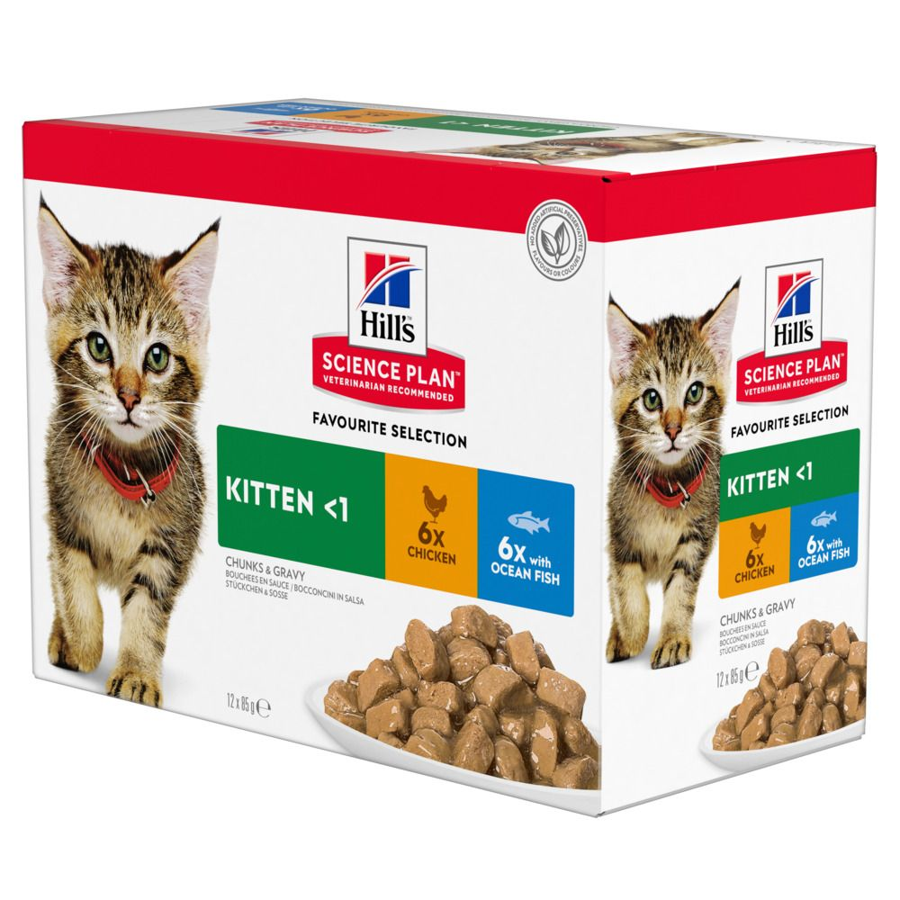 12x85g Poultry Selection Kitten Pouches Hill's Science Plan Wet Food
