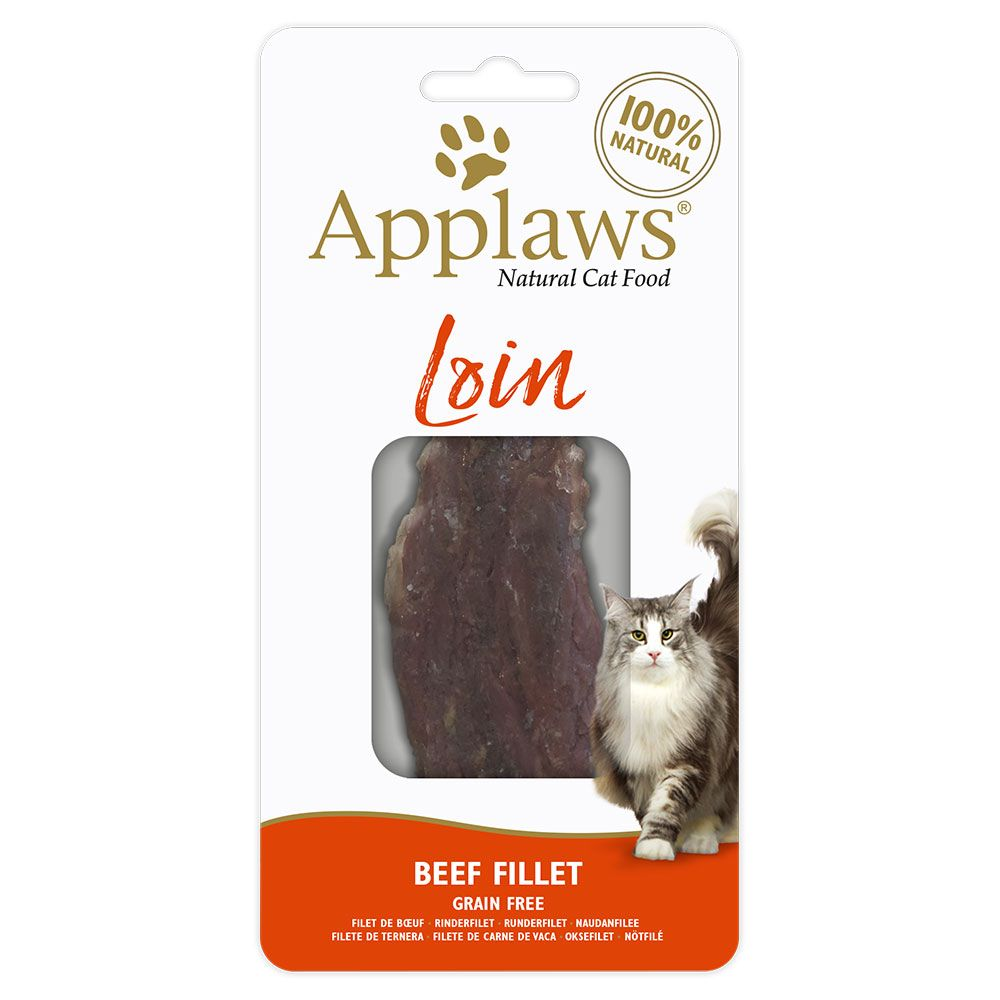 Applaws Cat Beef Loin - Ekonomipack: 3 x 20 g