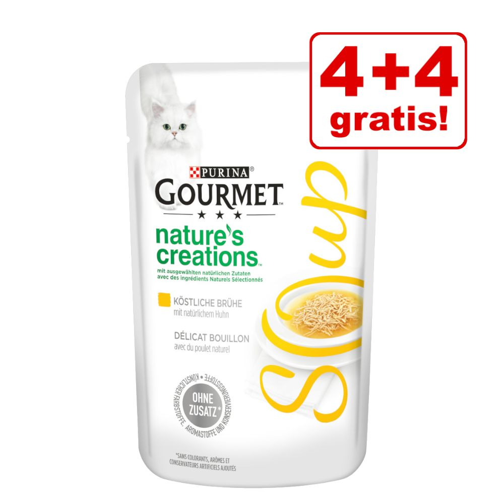 4 + 4 gratis! 8 x 40 g Gourmet Soup - Huhn