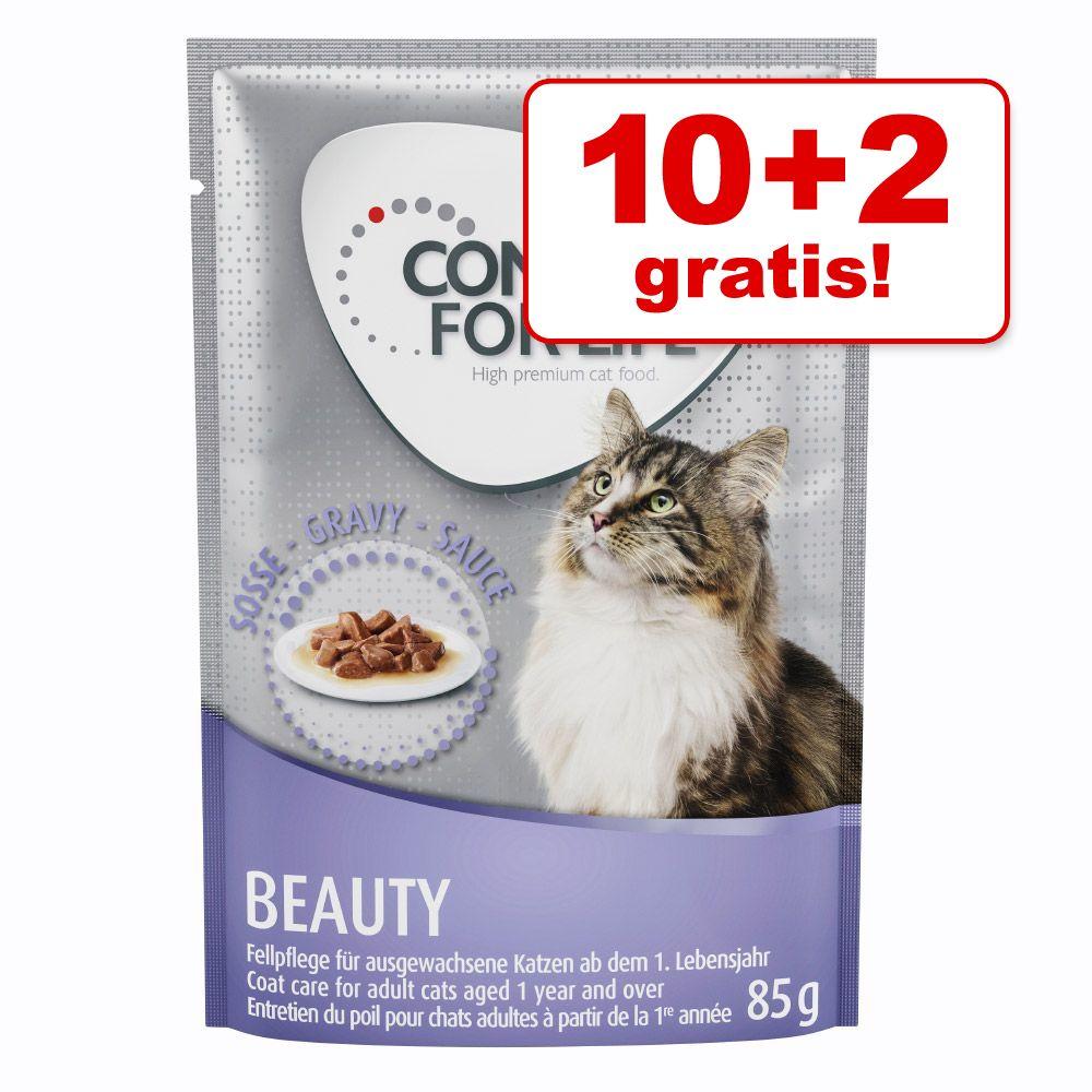 10 + 2 på köpet! 12 x 85 g Concept for Life våtfoder för katt - All Cats 10+ - i sås