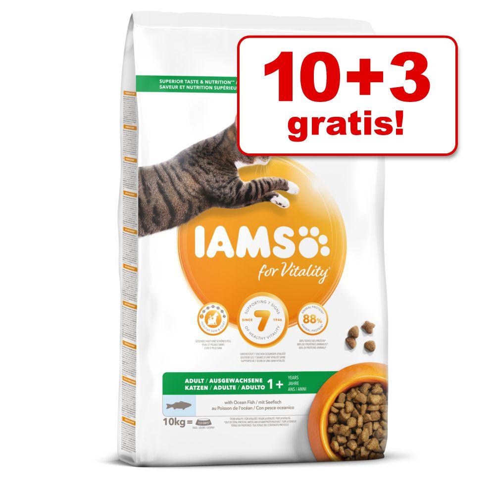 10 kg + 3 kg på köpet! IAMS torrfoder för katt Adult Lamb (10 kg)