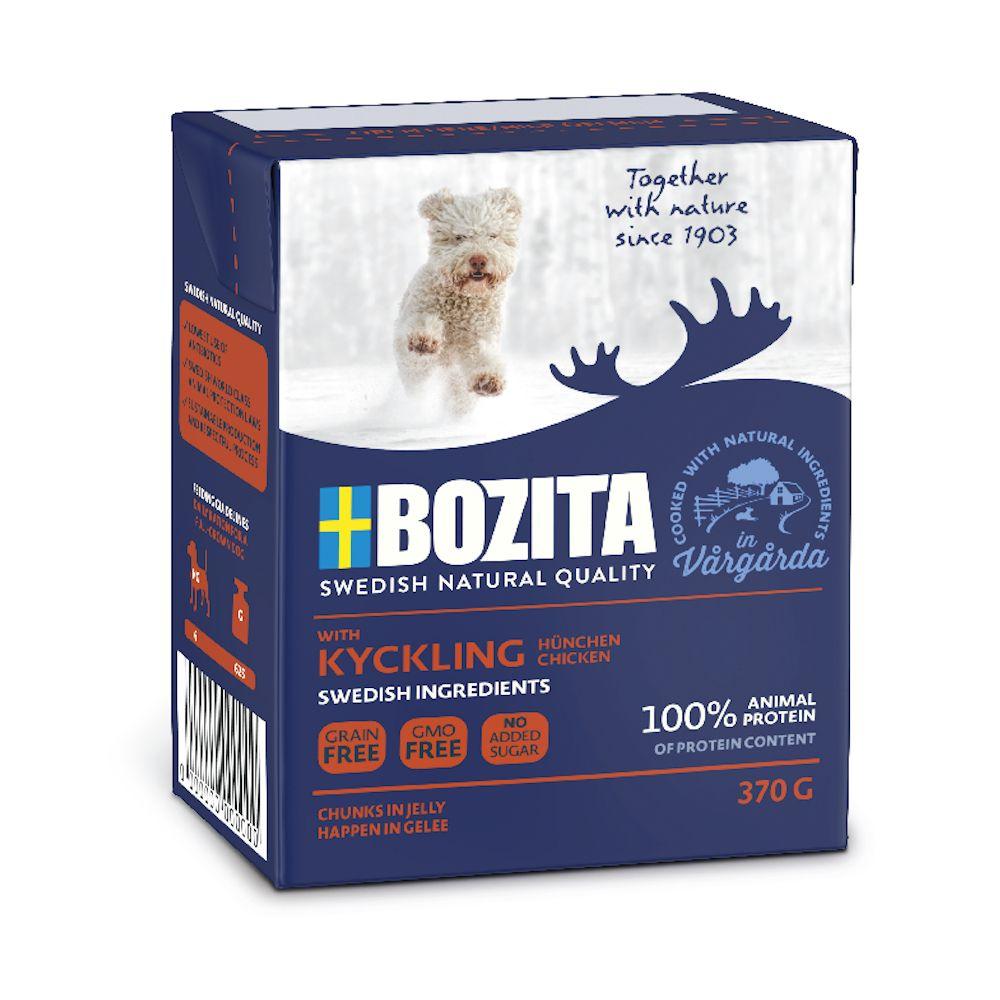 6x370g élan Bouchées en gelée Bozita - Nourriture pour chien