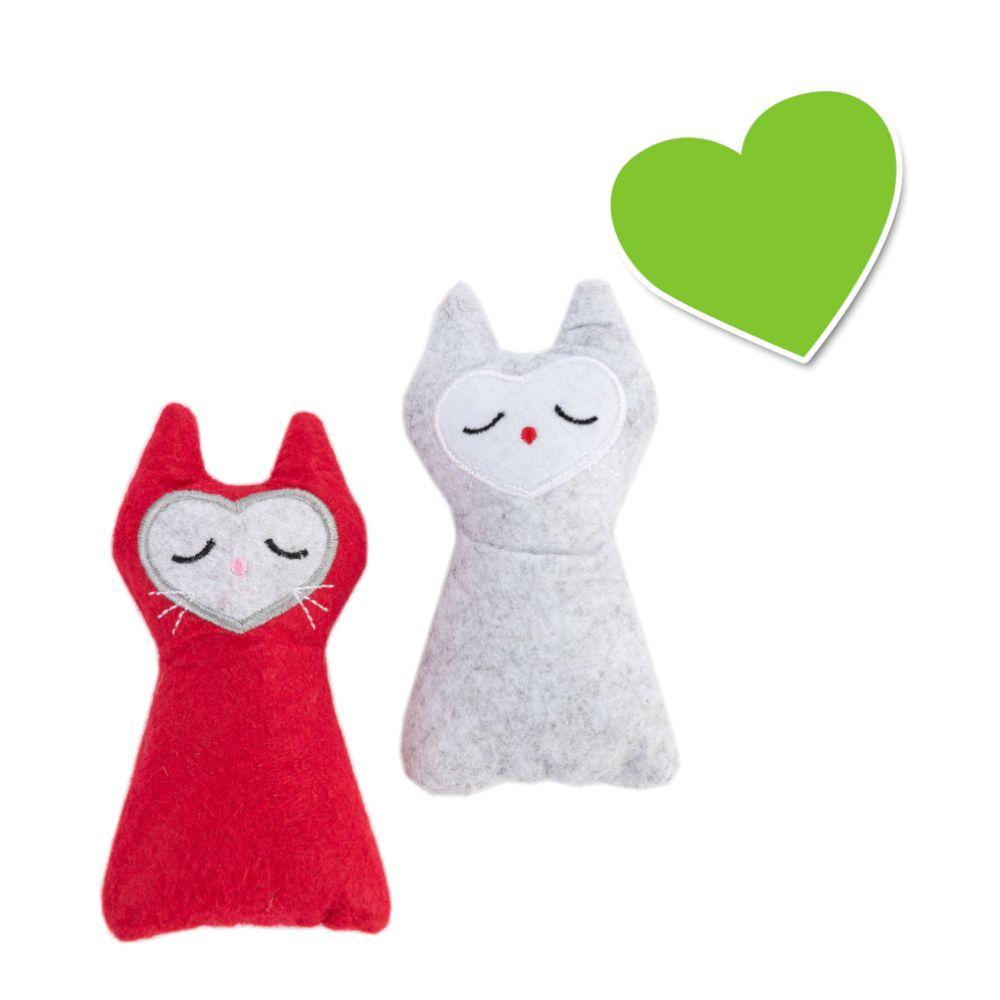 zoolove Katzenspielzeug Felt Cat Set - 2 Stück