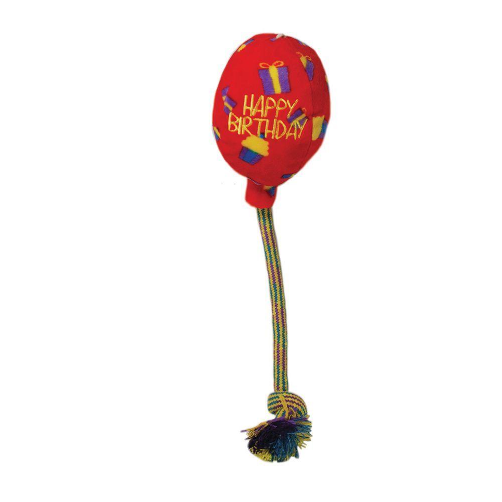 KONG Occasions Birthday Balloon - Größe M: L 9 x B 9 x H 15 cm