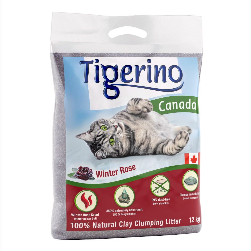 2 x 12kg Tigerino Canada Winter Rose Cat Litter