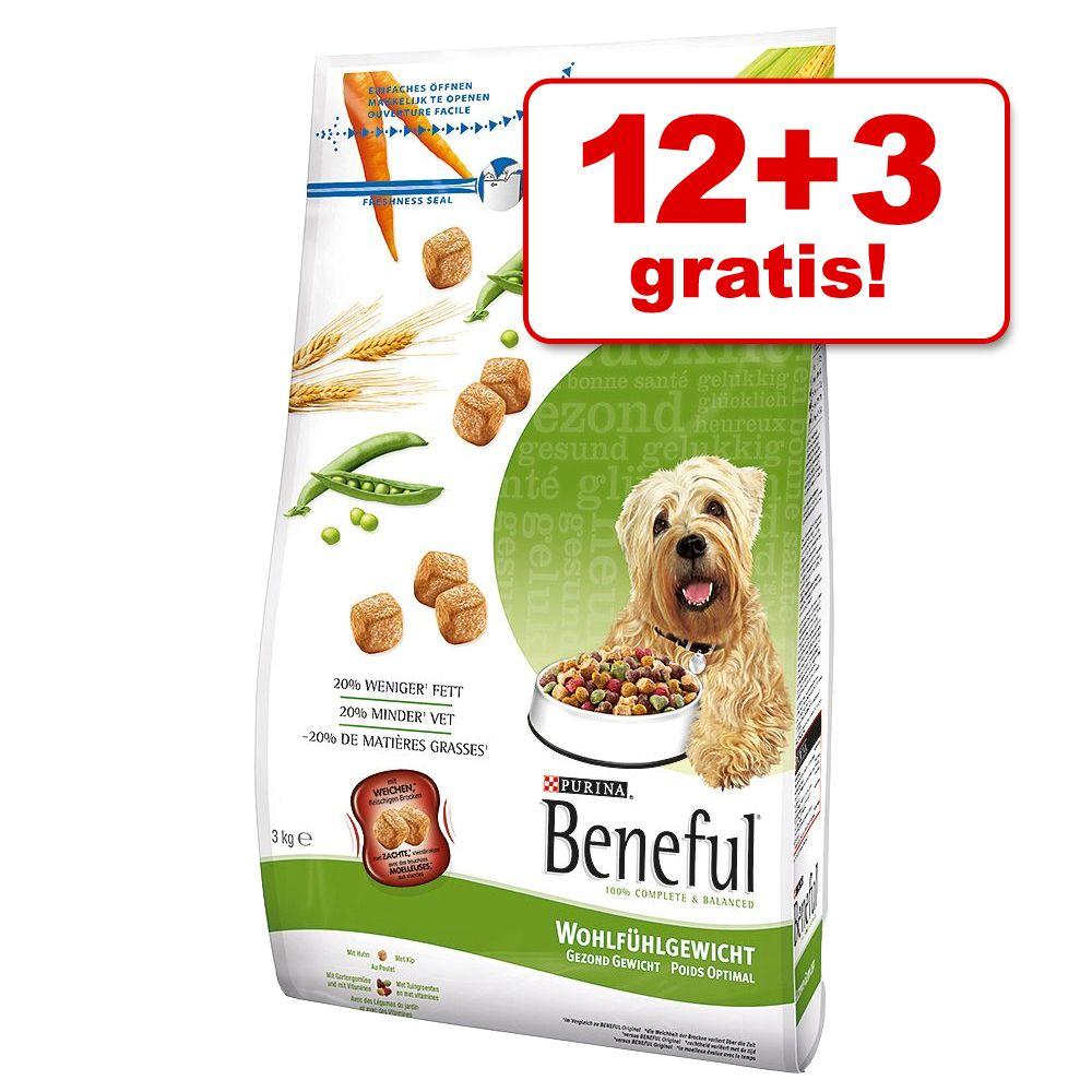 12 + 3 kg gratis! 15 kg Beneful Bonusbag - Wohl...