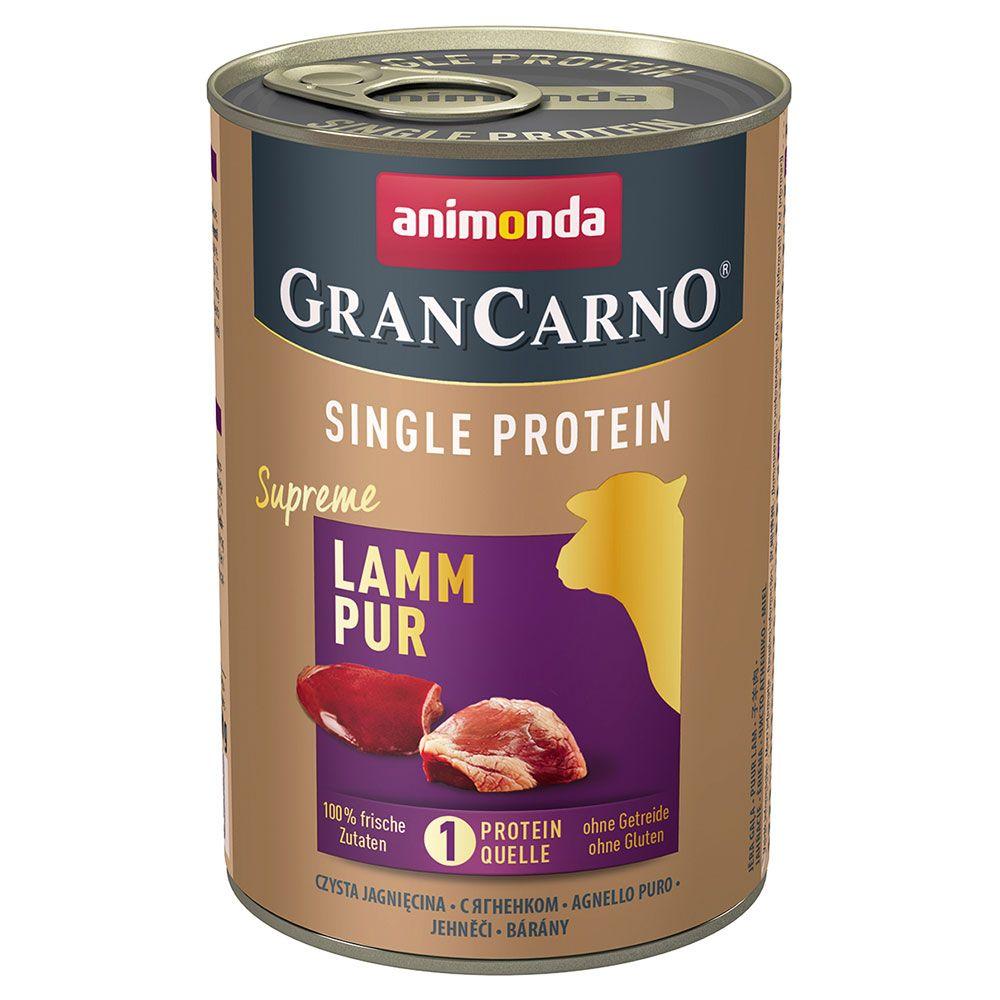 Animonda GranCarno Adult Single Protein Supreme 6 x 400 g - Lamm Pur