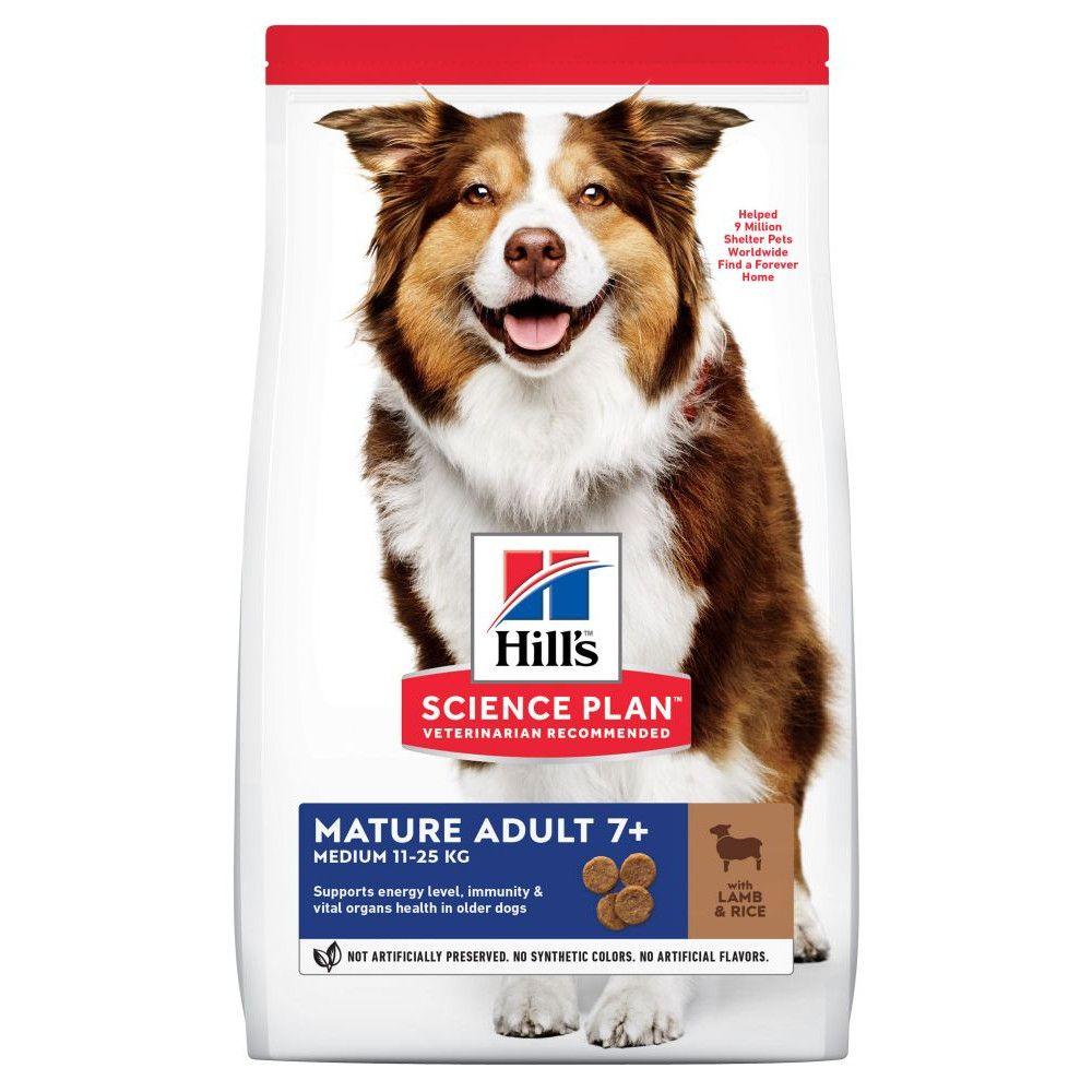 2x14kg Lamb & Rice Medium Mature Adult Hill's Science Plan Dry Dog Food