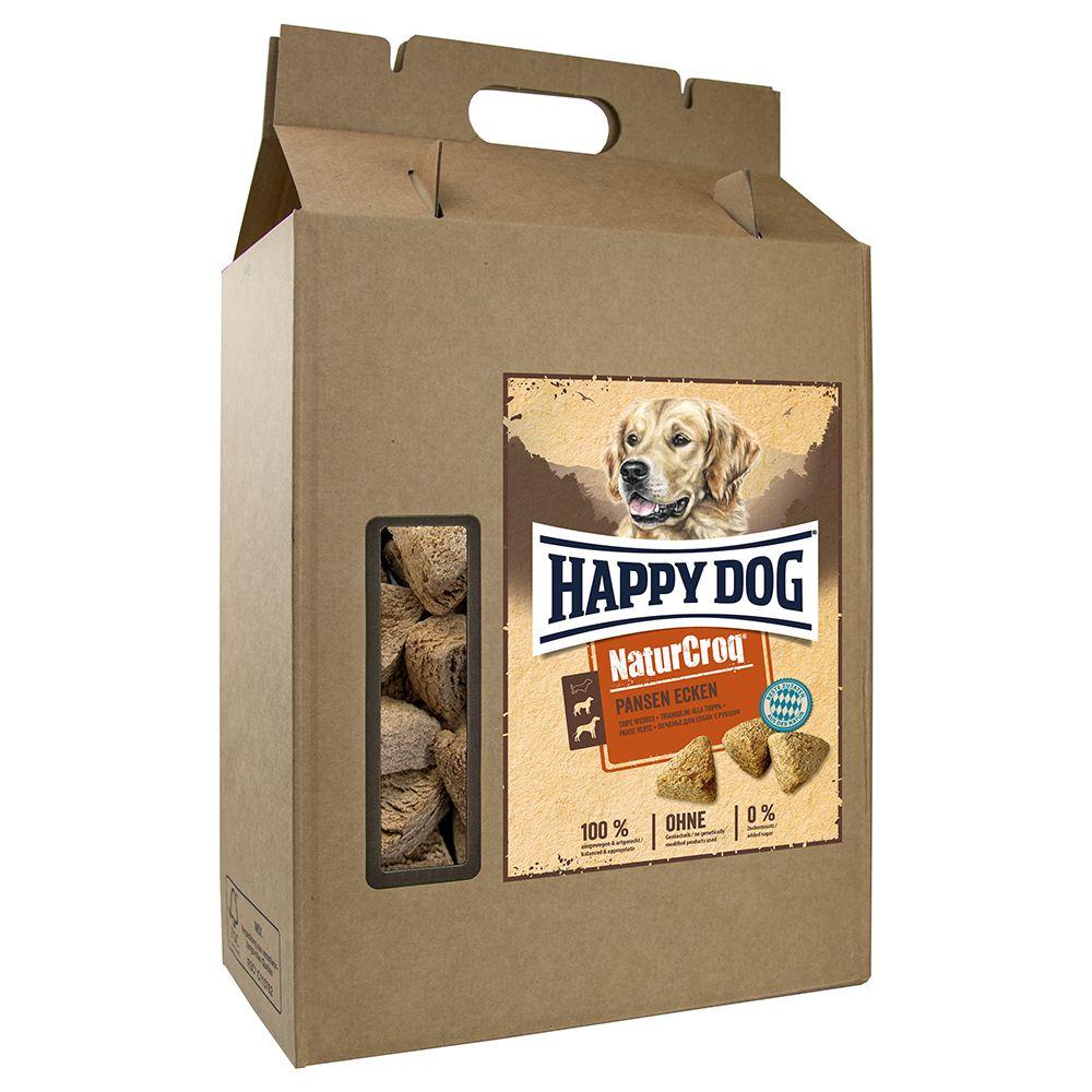 Zwischendurch naschen? Ja klar, aber bitte artgerecht und ausgewogen! Die Happy Dog NaturCroq Pansen-Ecken sorgen nicht nur für Genuss, sondern punkten mit einer sorgsam zusammengestellten Rezeptur, die auf die Ernährungsansprüche Ihres Hundes abgestimmt ist. Die Knusperecken ...