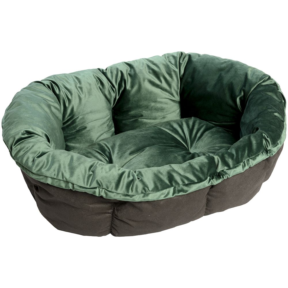 Überzug  Samt grün für Ferplast Hundekorb Siesta Deluxe - 4: L 64 x B 48 x H 25 cm