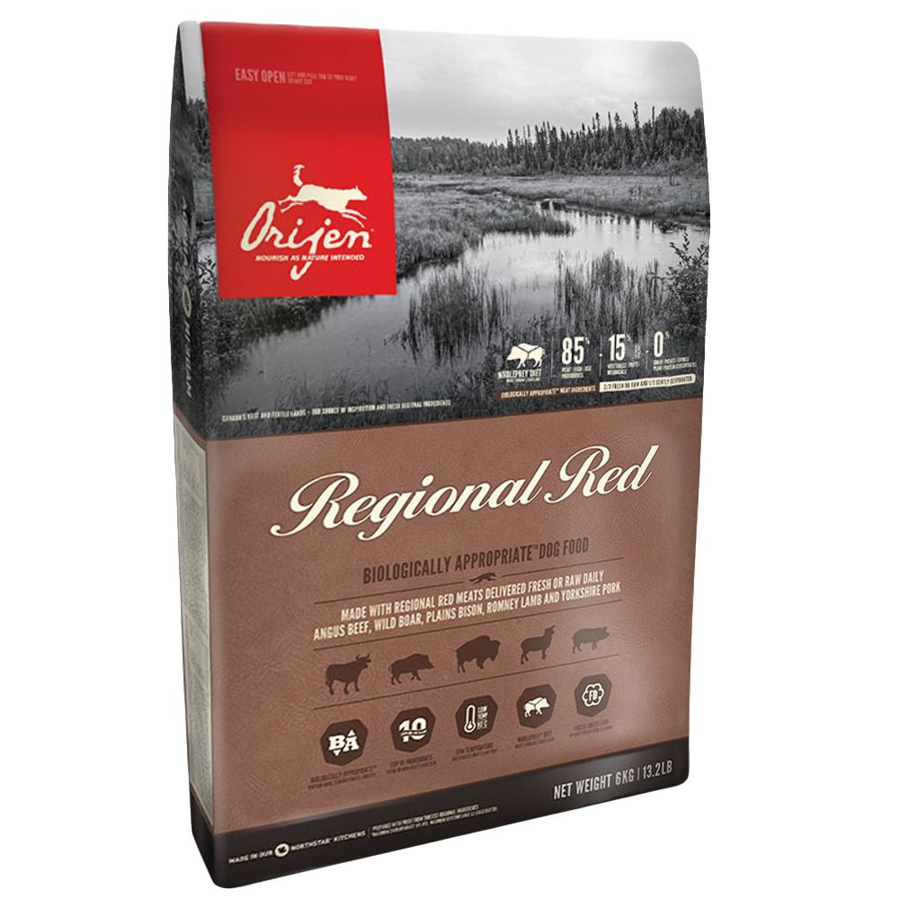 Ensure you are meeting your dog's natural nutritional needs with this Orijen Regional Red Adult Dry Dog Food. It follows the WHOLEPREY™ concept, which bases your d...