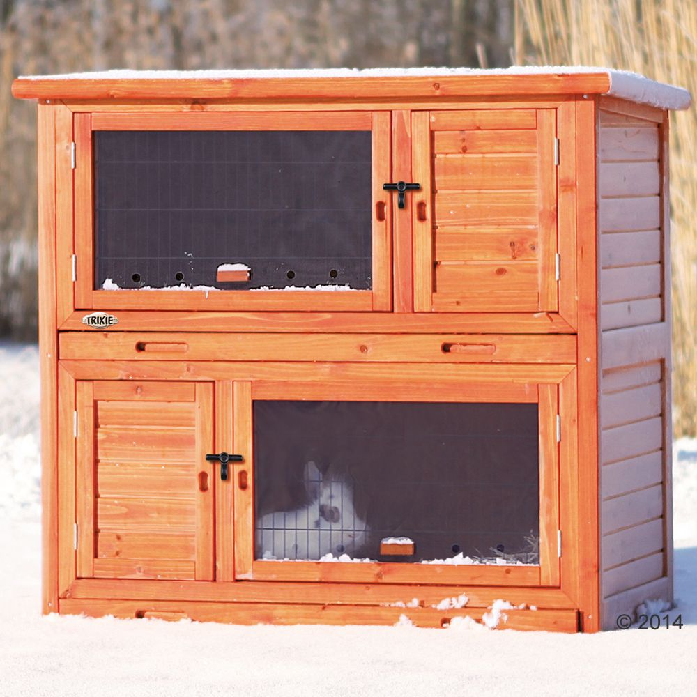 The Trixie Natura Small Animal Hutch with Insulation gives your pet space to roam! The two levels can be separated to keep two pets apart. An integrated den gives ...