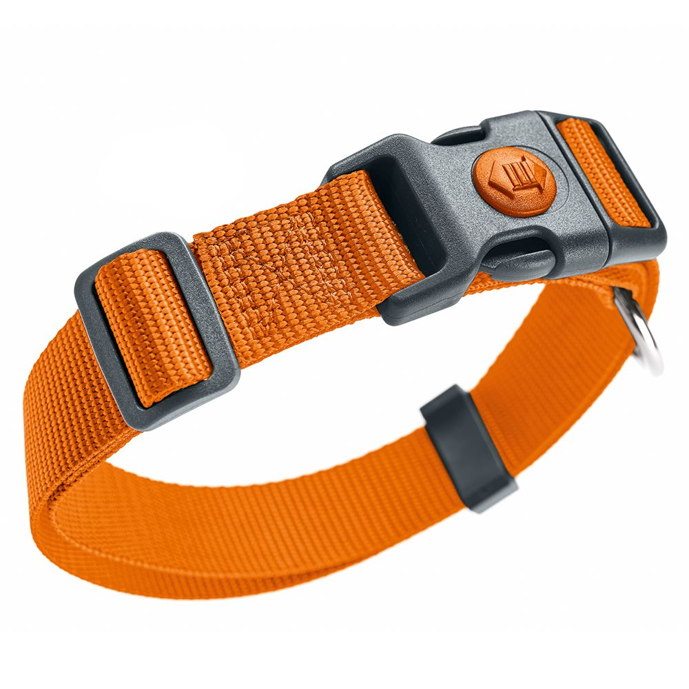 HUNTER Halsband London, orange - Vario Basic Gr.M: 30-46 cm Halsumfang, B 15 mm