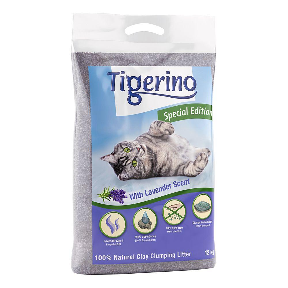 2x12kg Litière Tigerino Édition spéciale senteur lavande - pour chat
