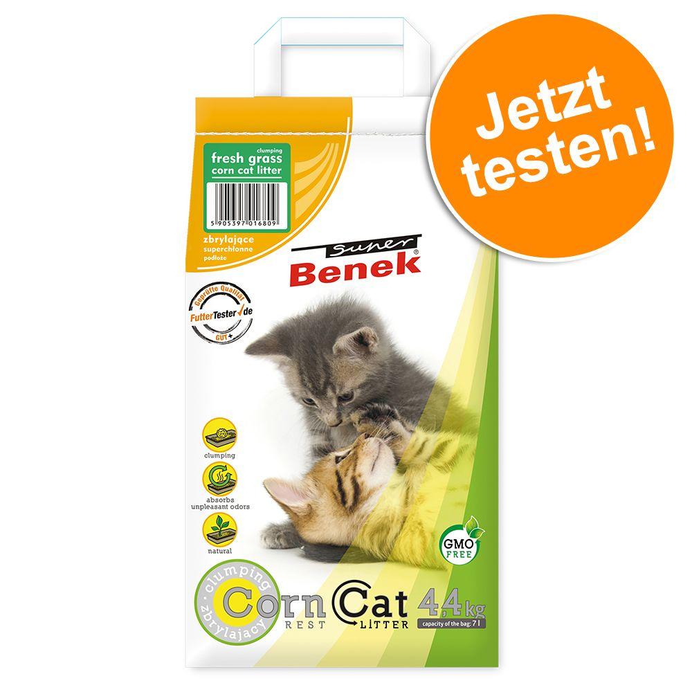 Super Benek Katzenstreu - Probiergröße 7 l - Corn Cat Frisches Gras