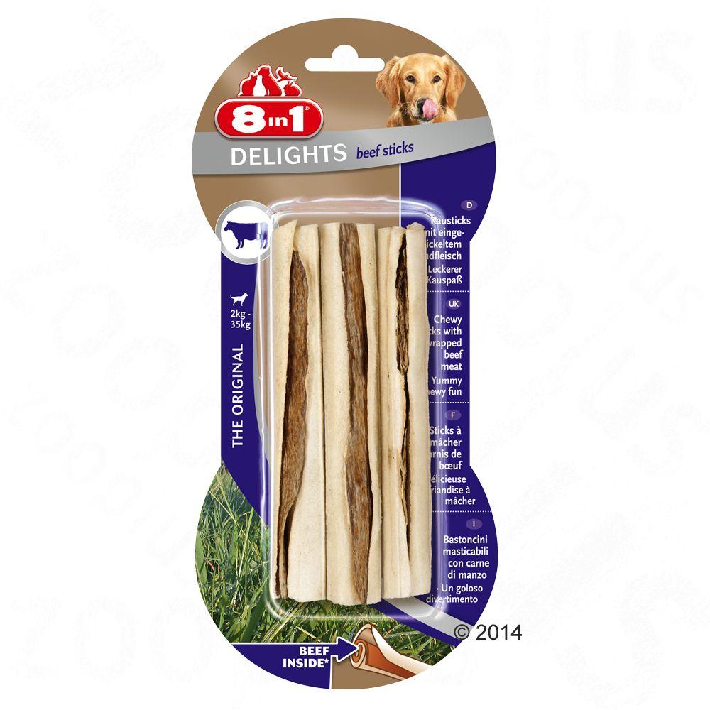 8in1 Delights pałeczki z wołowiną - 3 x 25 g