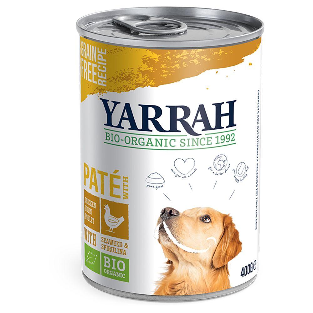 Chicken with Spirulina & Seaweed in Sauce Pate Yarrah Organic Wet Dog Food