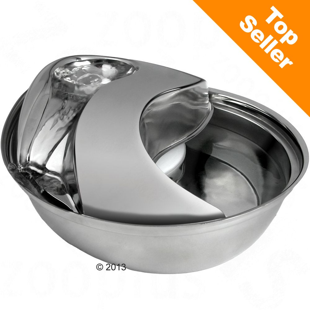 Raindrop drickfontän av rostfritt stål - Komplett set: Fontän + 3 Ersättningsfilter