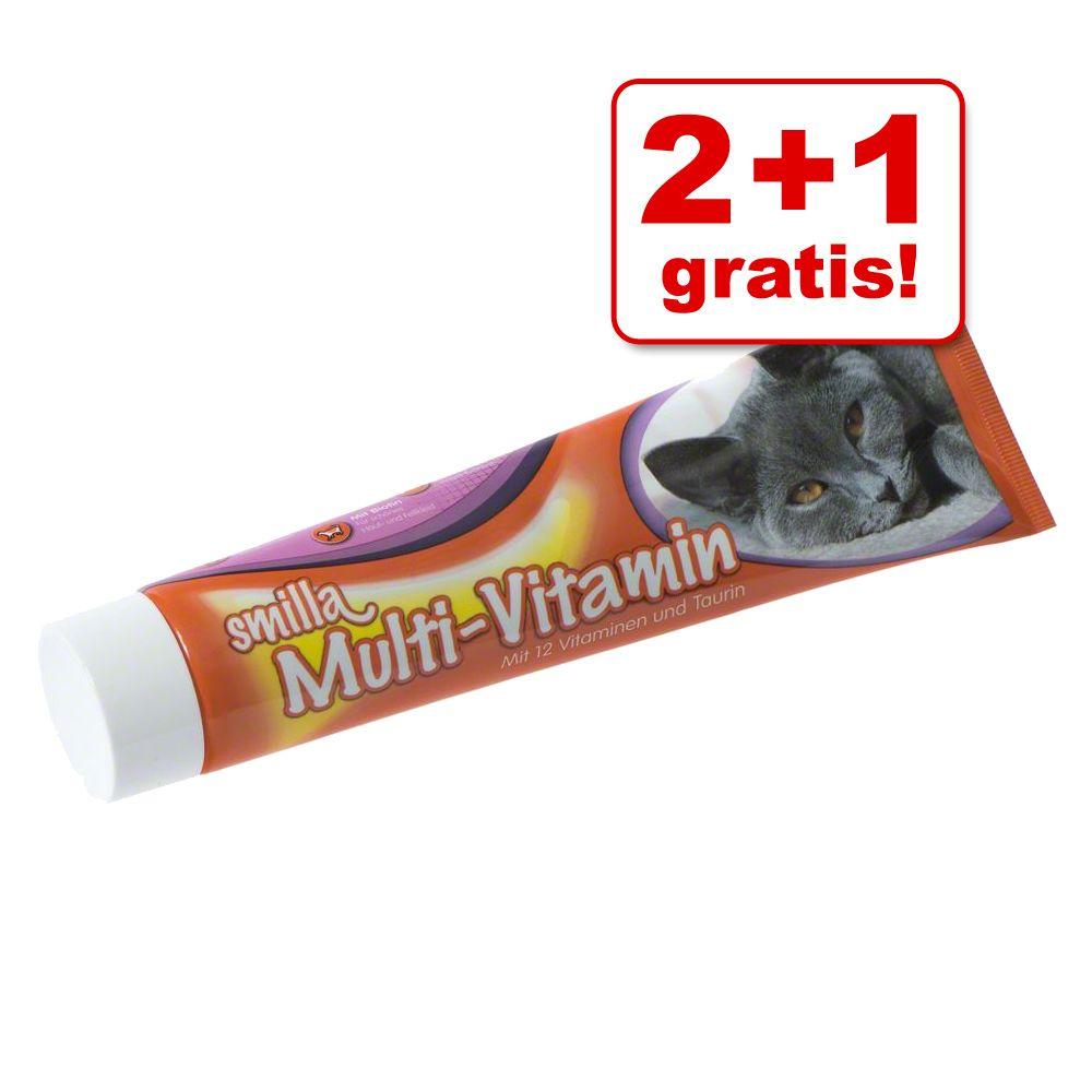 2 + 1 på köpet! 3 x Smilla på tub och kattgodis - Toothies i bägare 3 x 125 g