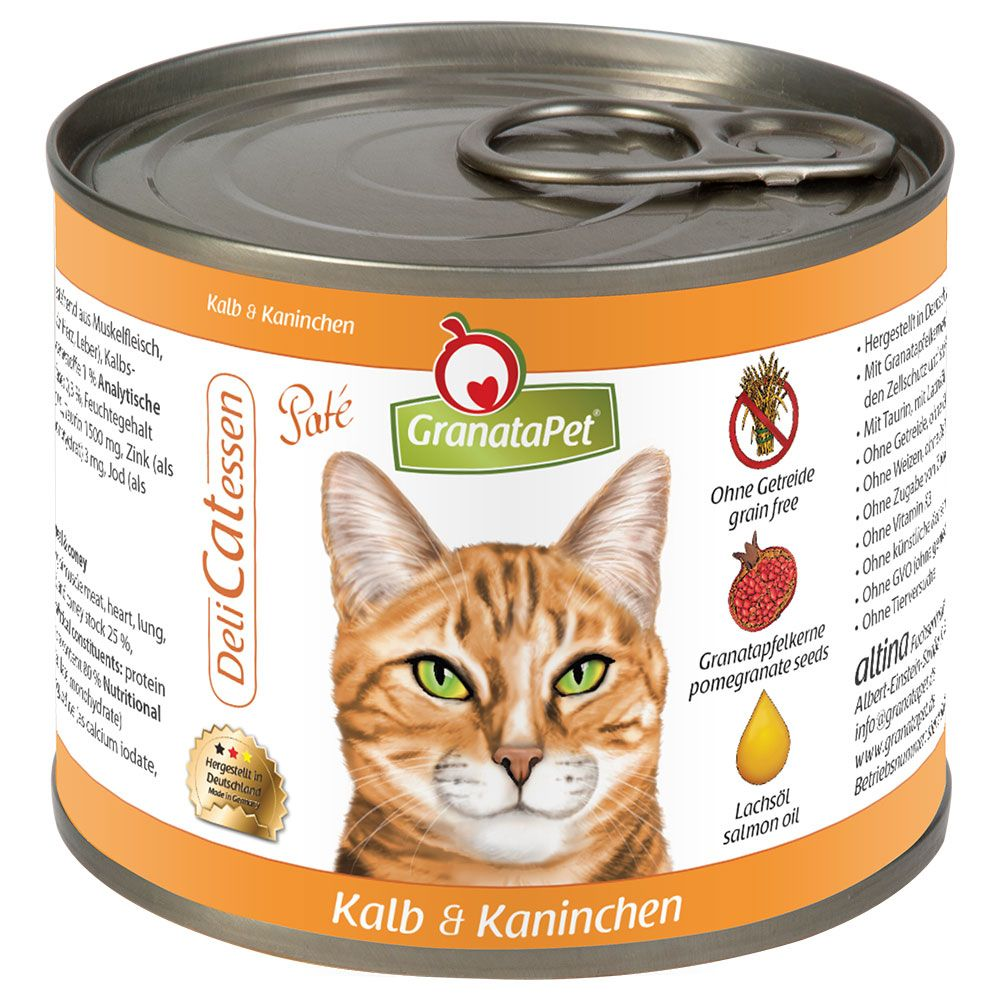 6 x 200g GranataPet Cat DeliCatessen