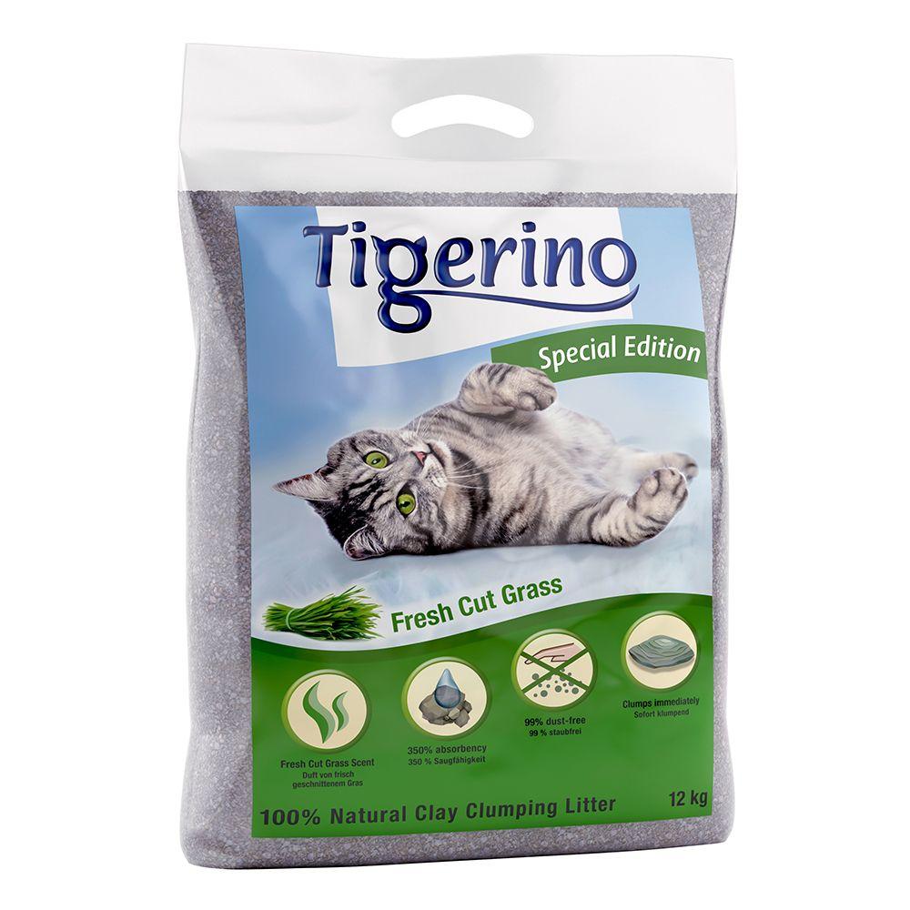 Tigerino Special Edition - Fresh Cut Grass - Ekonomipack: 2 x 12 kg